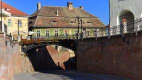 Straat in Sibiu, Transsylvanië, Roemenië Royalty-vrije Stock Afbeeldingen