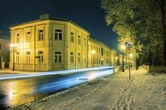 Straat in Siedlce, Polen Stock Foto's