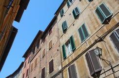 Straat in Siena Stock Afbeeldingen
