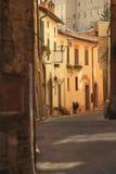 Straat in Siena, Toscanië Stock Fotografie
