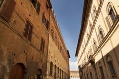 Straat in Siena, Toscanië Royalty-vrije Stock Fotografie