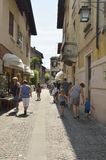 Straat in Sirmione Royalty-vrije Stock Afbeelding