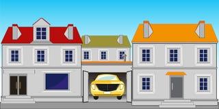 Straat in stad vector illustratie