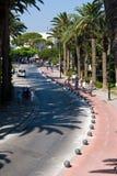 Straat in stad Kos stock afbeelding