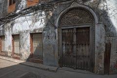 Straat in Steenstad, Zanzibar Royalty-vrije Stock Afbeelding