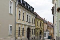 Straat in Szekesfehervar Stock Afbeelding