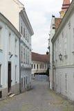 Straat in Szekesfehervar, Hongarije royalty-vrije stock afbeelding