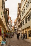 Straat in Tübingen, Duitsland Buiten, oriëntatiepunt stock foto