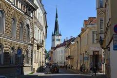 Straat in Tallinn stock afbeeldingen