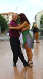 Straat-tango in Monza op 14 Mei, 2017 Royalty-vrije Stock Fotografie