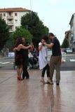 Straat-tango in Monza op 14 Mei, 2017 Stock Fotografie
