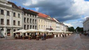 Straat in Tartu Stock Afbeeldingen