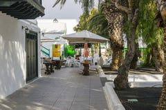 Straat in Teguise, Lanzarotte Royalty-vrije Stock Foto's