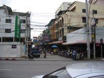 Straat in Thailand Stock Foto's