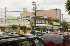 Straat in Tijuana die van de binnenstad wordt gevestigd Stock Afbeelding