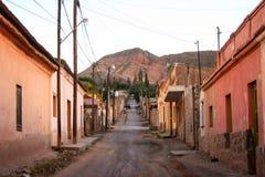 Straat in Tilcara stock afbeelding