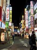 Straat in Tokyo Shinjuku stock foto