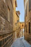 Straat in Toledo, Spanje Stock Foto