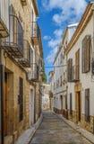 Straat in Ubeda, Spanje Stock Foto's