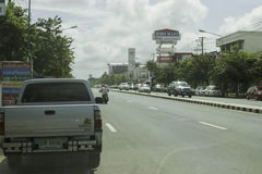 Straat in Ubon, Thailand stock afbeeldingen