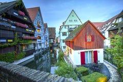 Straat in Ulm, Duitsland stock foto's
