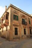 Straat in Valletta, Malta Royalty-vrije Stock Fotografie