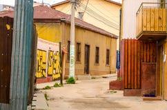 Straat in Valparaiso, Chili Royalty-vrije Stock Fotografie