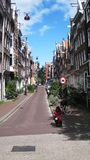 Straat van Amsterdam stock afbeeldingen