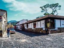 Straat van Antigua in Guatemala stock afbeelding