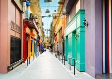 Straat van Athene, Griekenland stock foto's