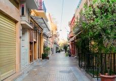 Straat van Athene, Griekenland stock fotografie