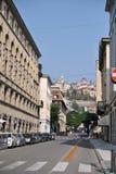 Straat van Bergamo royalty-vrije stock afbeelding