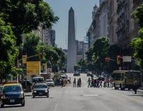 Straat 6 van Buenos aires royalty-vrije stock afbeelding