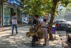 Straat van Chengdu, China stock afbeelding