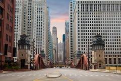 Straat van Chicago. royalty-vrije stock foto's