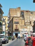 Straat van de buurt van quartieremercato in Napels, Campania, Italië Royalty-vrije Stock Foto's