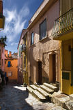 Straat van de jeugd Franse stad royalty-vrije stock foto