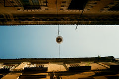 Straat van de kleine Italiaanse stad Stock Afbeelding