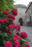 Straat van de middeleeuwse stad van Dinan royalty-vrije stock foto's