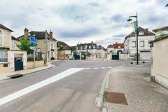 Straat van de oude Franse stad stock foto