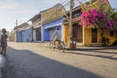 Straat van de oude stad van Hoi An Stock Foto