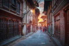 Straat van de stad van Kadmandu Royalty-vrije Stock Foto