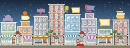 Straat van een kleurrijke stad vector illustratie