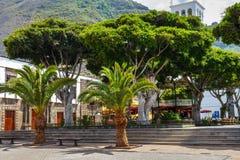 Straat van Garachico Stad op het Eiland van Tenerife, Kanarie, Spanje Stock Afbeeldingen
