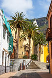 Straat van Garachico Stad op het Eiland van Tenerife, Kanarie, Spanje Royalty-vrije Stock Afbeelding