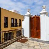 Straat van Garachico Stad op het Eiland van Tenerife, Kanarie, Spanje Royalty-vrije Stock Fotografie