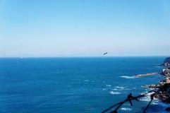 Straat van Gibraltar in Marokko stock foto's