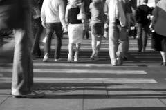 Straat van grote stad Stock Fotografie