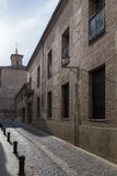 Straat van het centrum van de stad van Guadalajara in Spanje Stock Fotografie