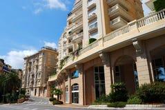 Straat van het prinsdom van Monaco Stock Foto